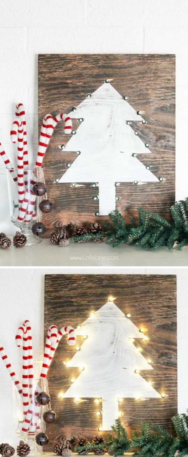 diy rustic marquee holiday tree sign - Rustic Christmas Decor