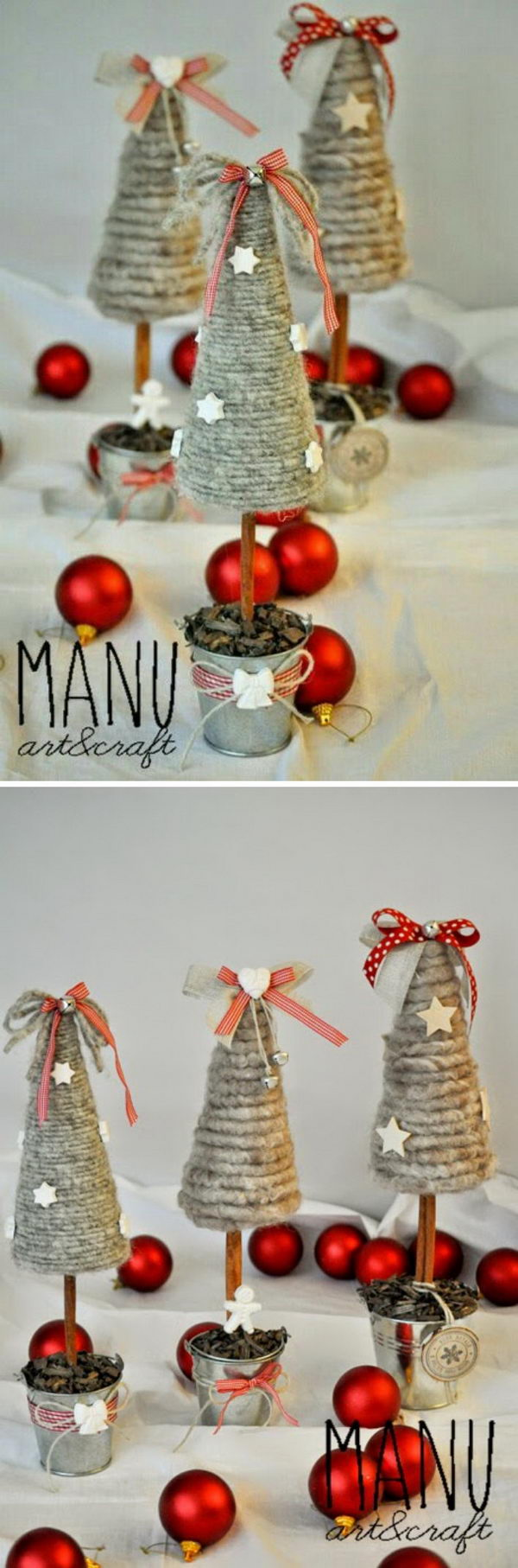 Mini Rustic Christmas Trees.