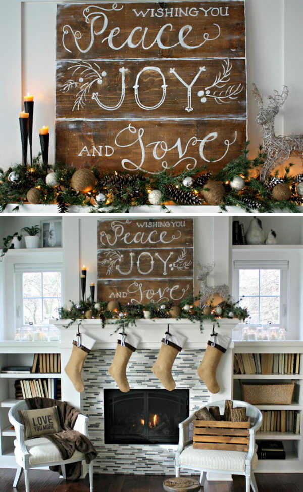 Rustic Christmas Decor.50 Beautiful Rustic Christmas Decorations Hative