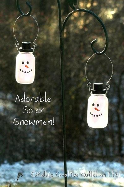 Snowman Mason Jars.