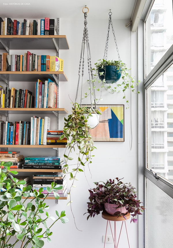 Hanging Something From The Ceiling Is A Fantastic Way To Fill In An Empty Corner Without Actually Blocking Out Space Completely These Plants Dont Have