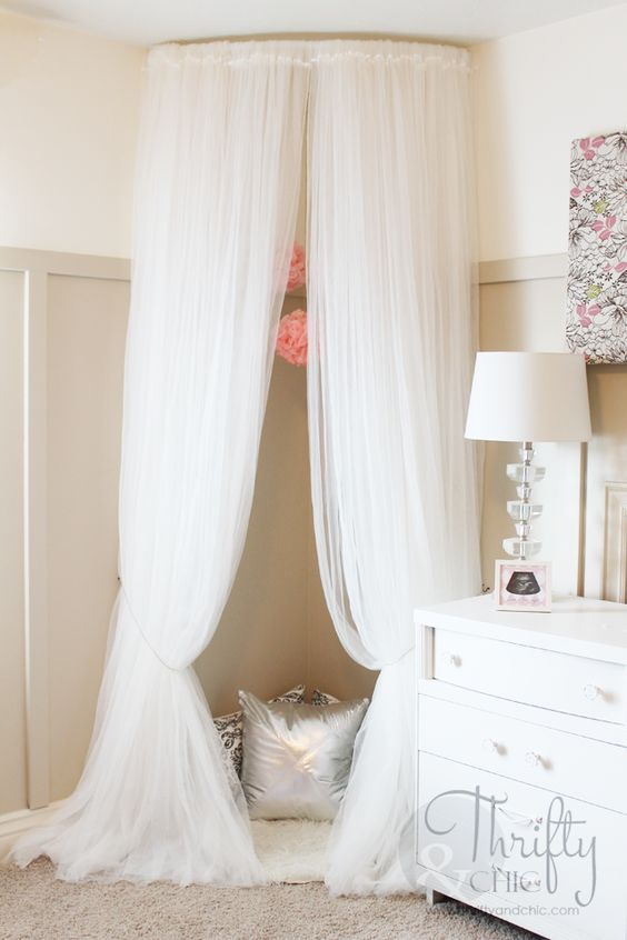 Gorgeous Canopy Nook Or Reading Nook.