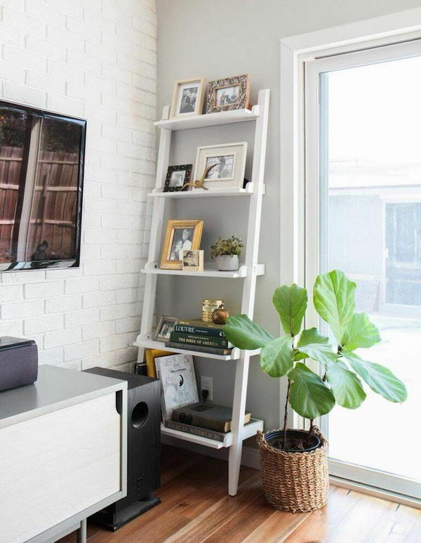 Ladder Storage Corner.