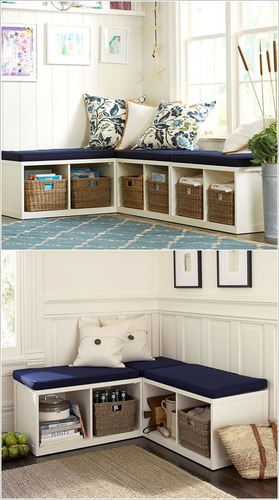 Corner Bench with Seating and Storage.