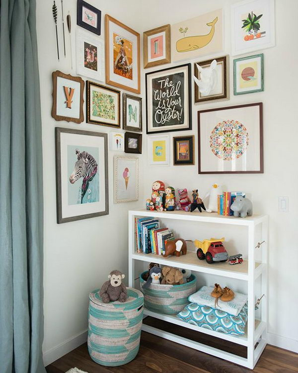 Kid's Room Gallery Wall.