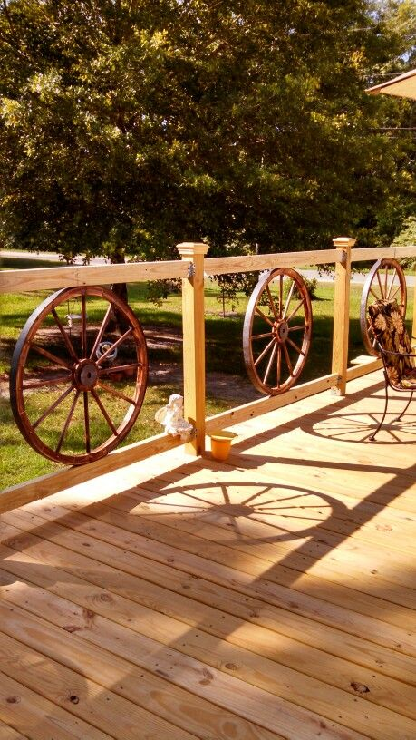 Wagon Wheel Railing.