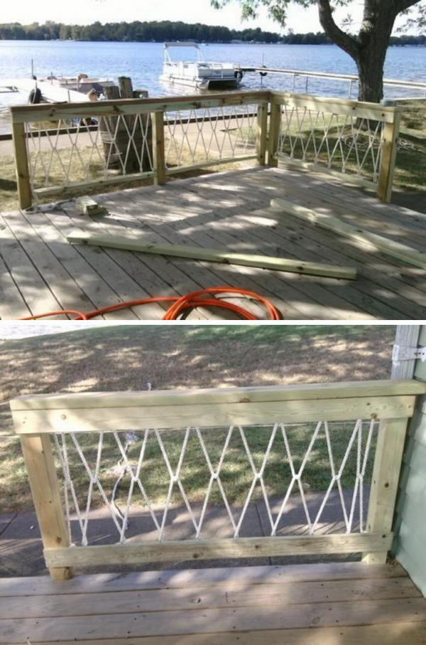 DIY Rope Railings