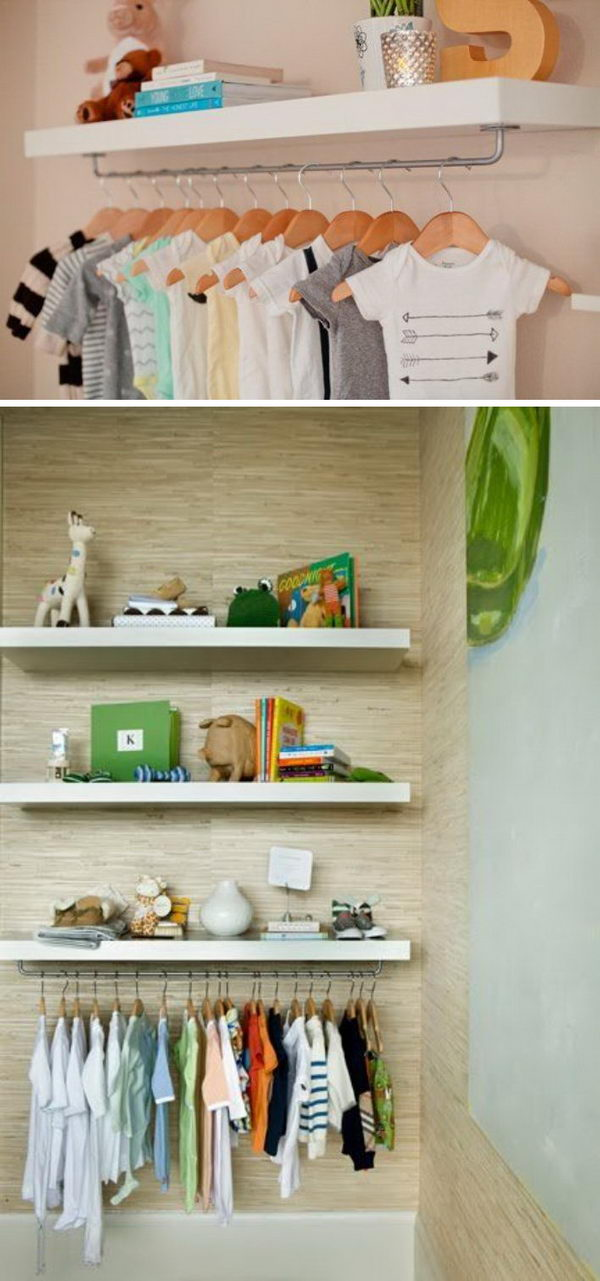 Make a Nursery Wardrobe Shelf.