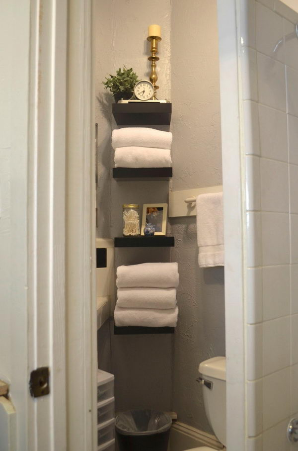 Bathroom Shelves From Ikea Lack Shelf.