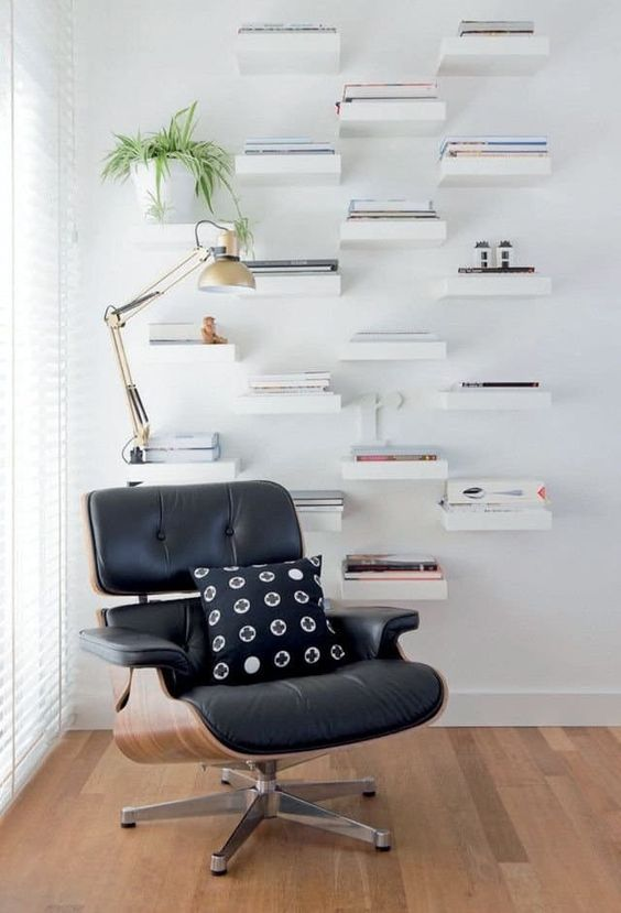 Create A Library Using Ikea Lack Shelves.