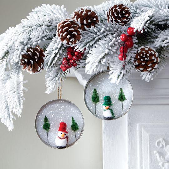 Snowy Scene Lid Ornament.