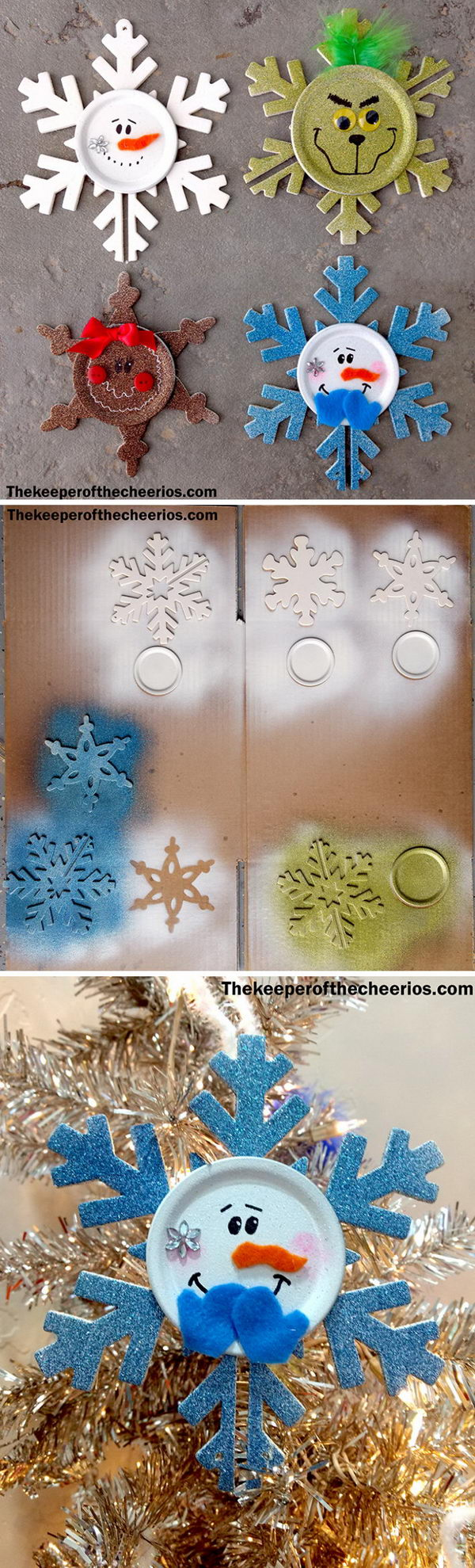 Snowflake Christmas Ornaments.