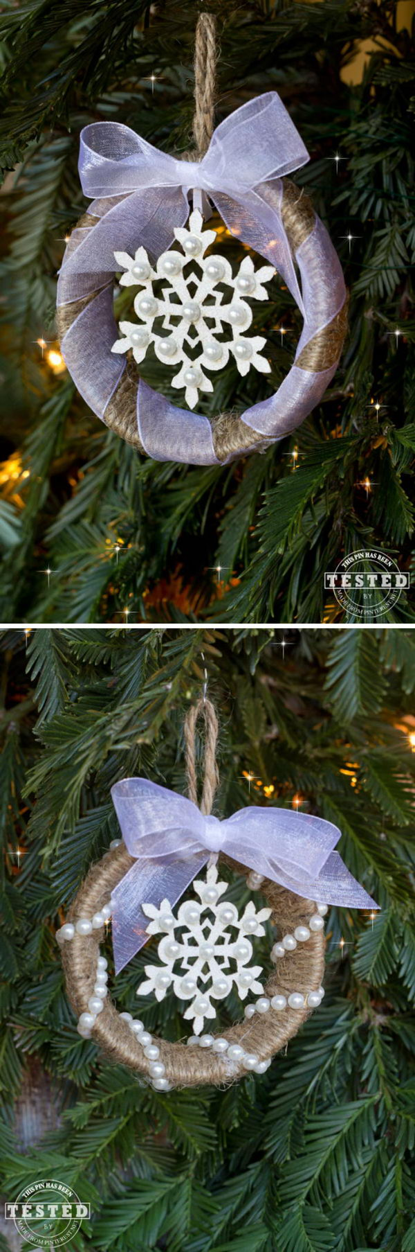 30 Simple And Festive Mason Jar Lid Ornaments For Christmas