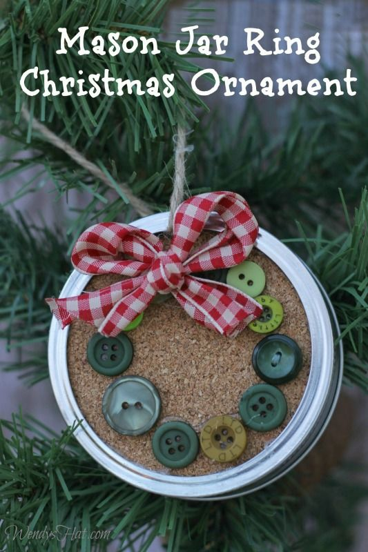 30 Simple And Festive Mason Jar Lid Ornaments For