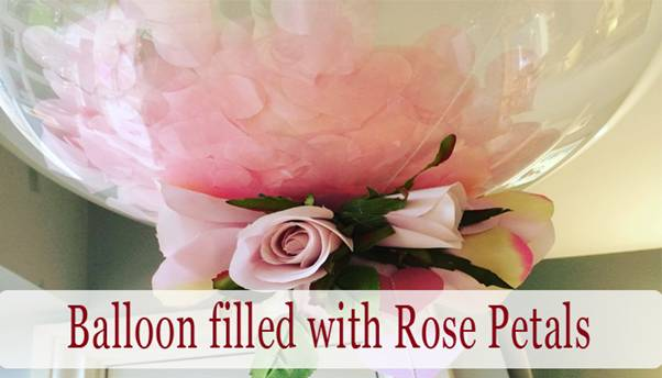 Valentine's Day Romantic DIY Arrangement with Rose Petals.