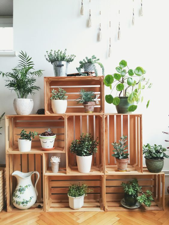 Crate Plant Stand.