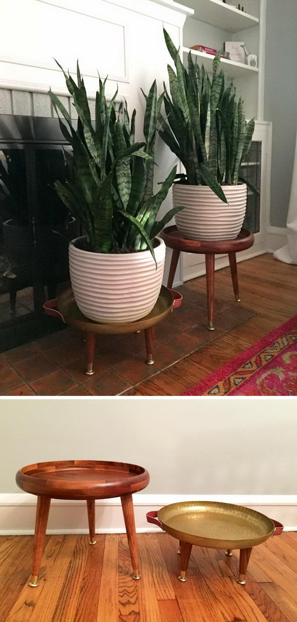 Genial 25+ DIY Plant Stands With Thrift Store Finds   Hative