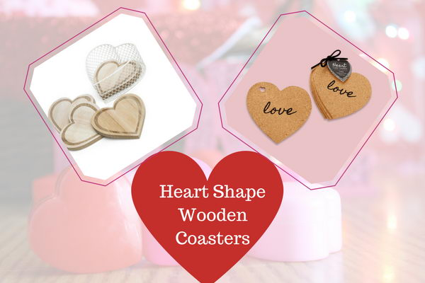 Heart Shape Wooden Coasters