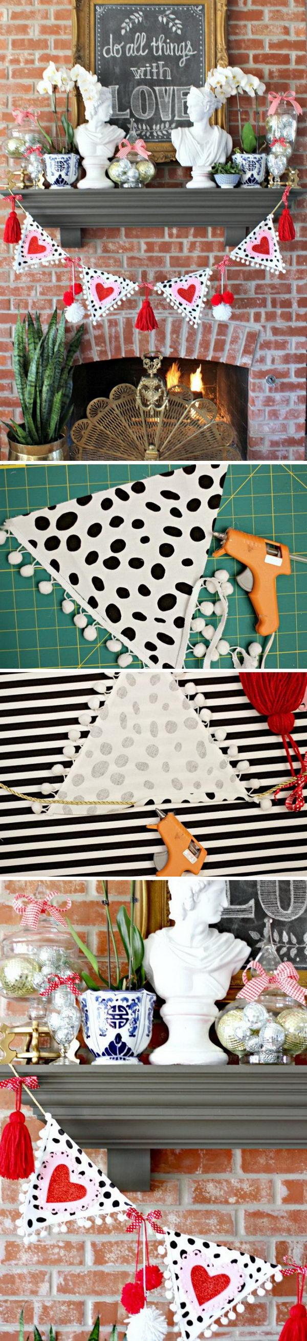 DIY No Sew Garland.