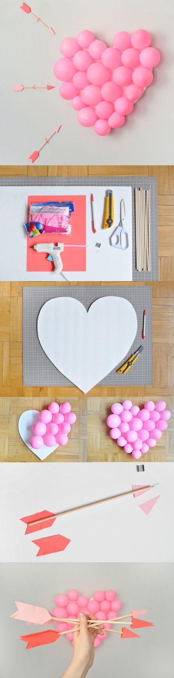 DIY Heart Shape Balloon Pop.