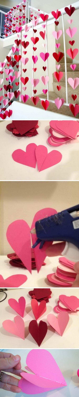 Paper Heart Backdrop.