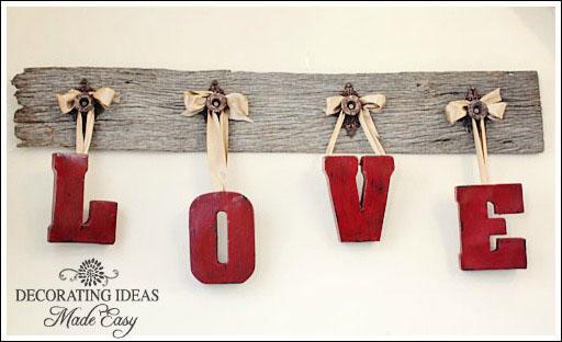 DIY Love Sign.