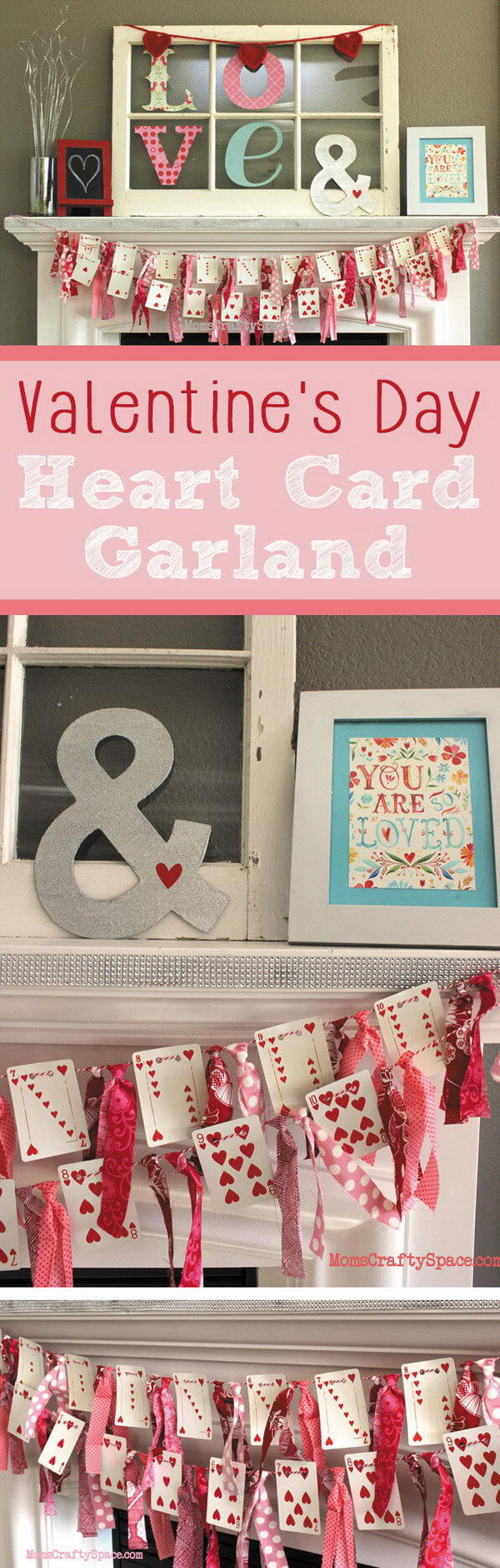 DIY Heart Cards Garland.