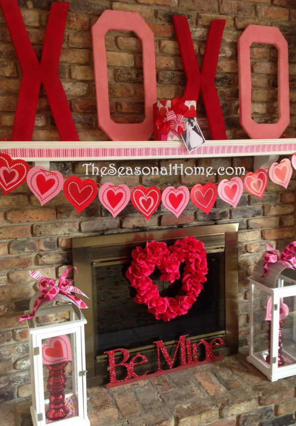 Giant Foam XOXO Valentine Mantel Decoration.