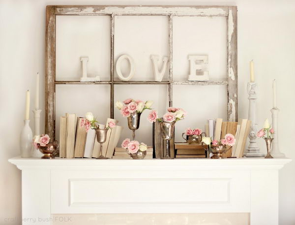 Repurpose Old Windows Into A Statement Piece Showing Your Love.