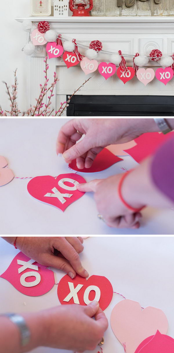 DIY Valentine's Day XO Garland.