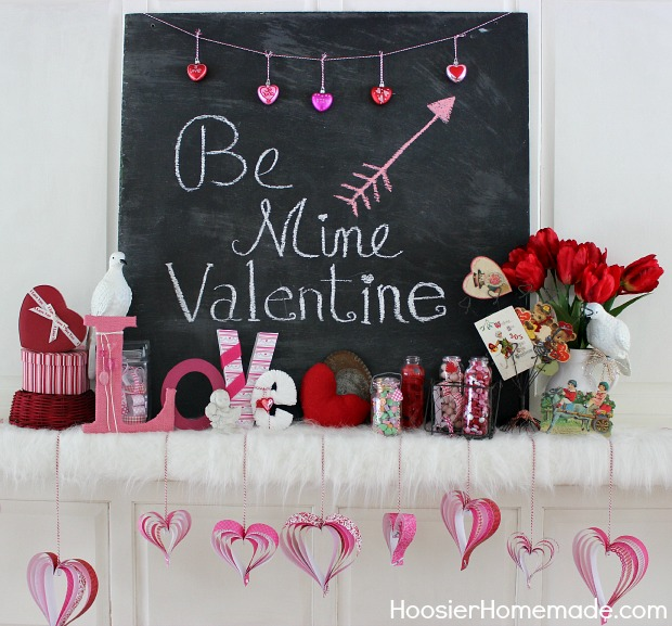 Be Mine Valentine Chalkboard.