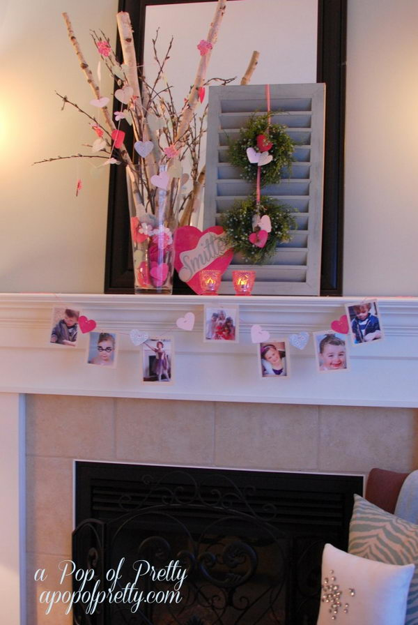 Twig and Smitten Photo Mantel.