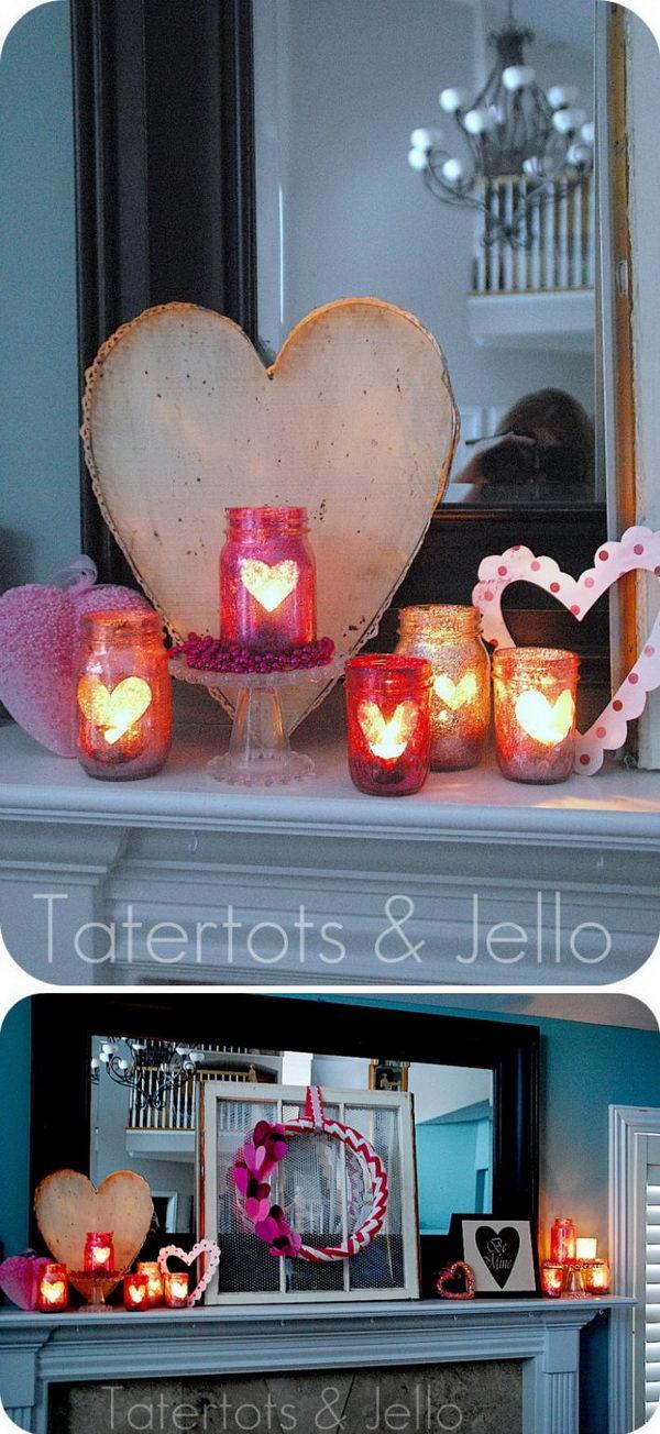 Valentine Glitter Mason Jar.