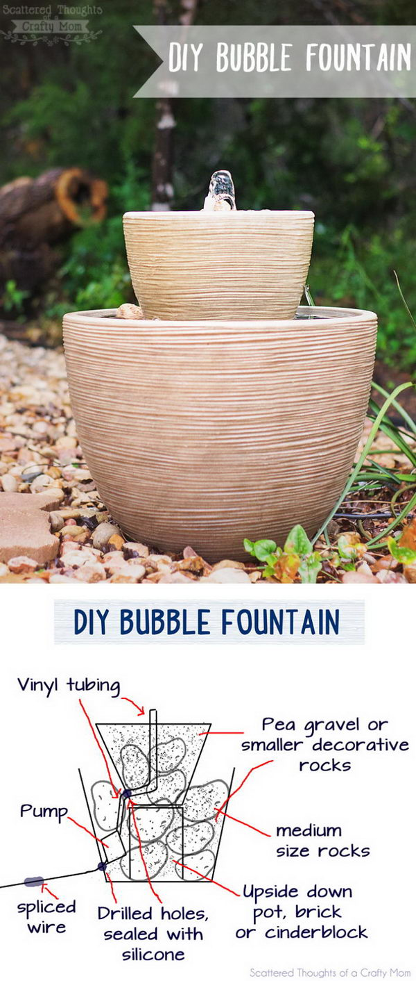 DIY Bubble Fountain in a Pot.
