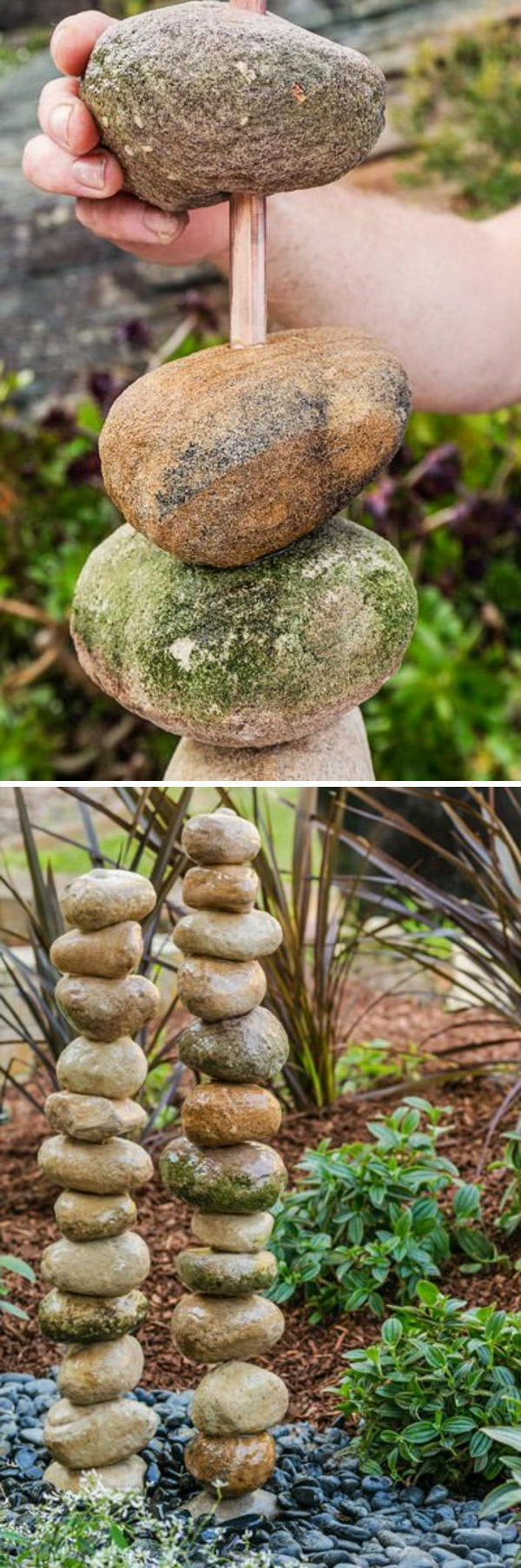 Superb DIY Stacked Rocks Water Feature