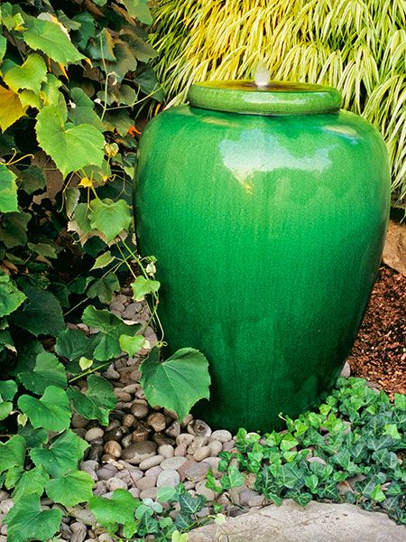 Green Urn Water Fountain.