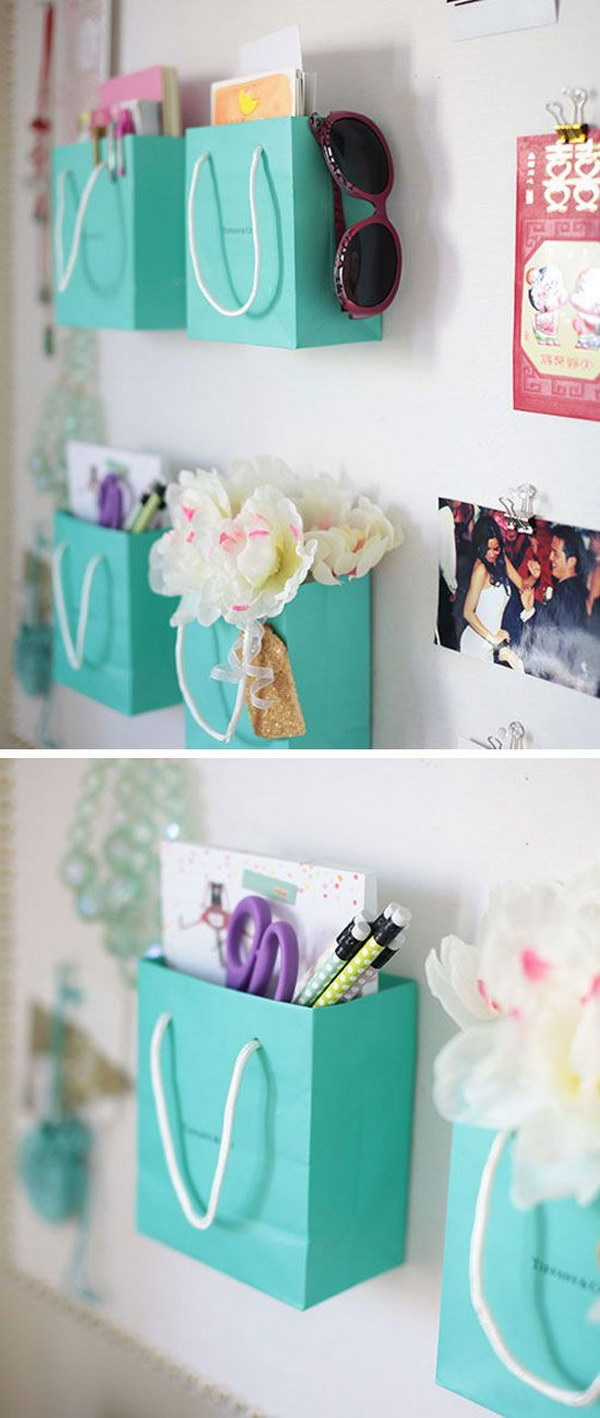 Shopping Bag Wall Organizer.
