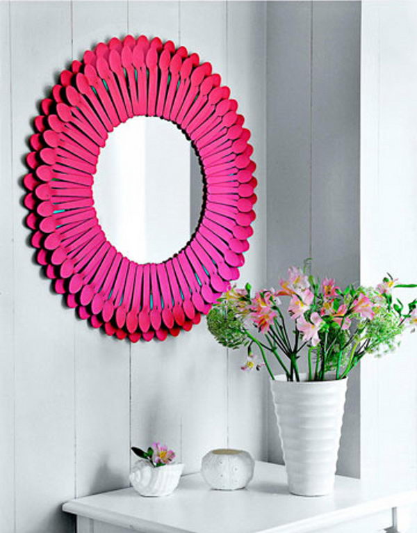 Plastic Spoon Mirror.