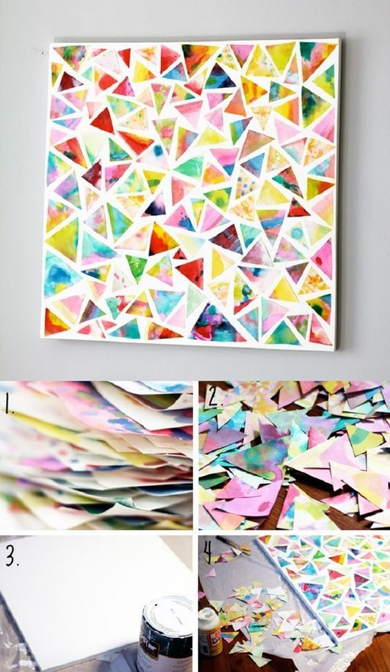 DIY Mod Podge Wall Art.