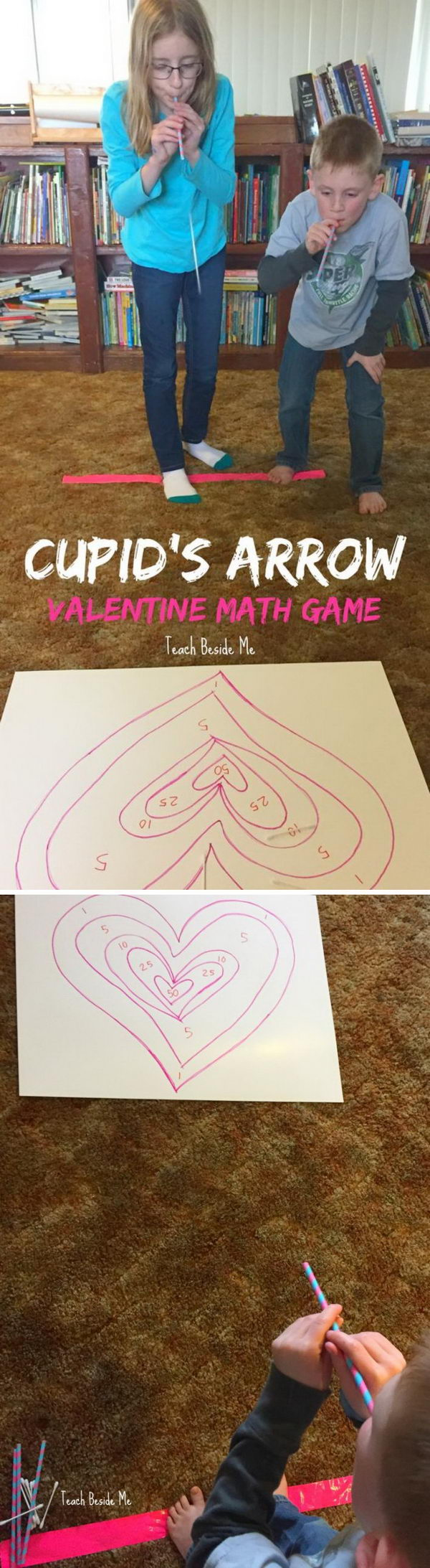 Cupid's Arrow Math Learning Game.