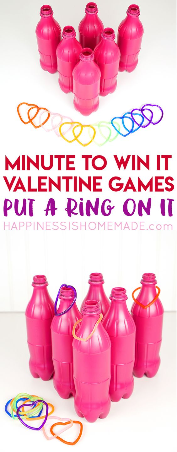 Valentine Minute to Win It Tossing Game.