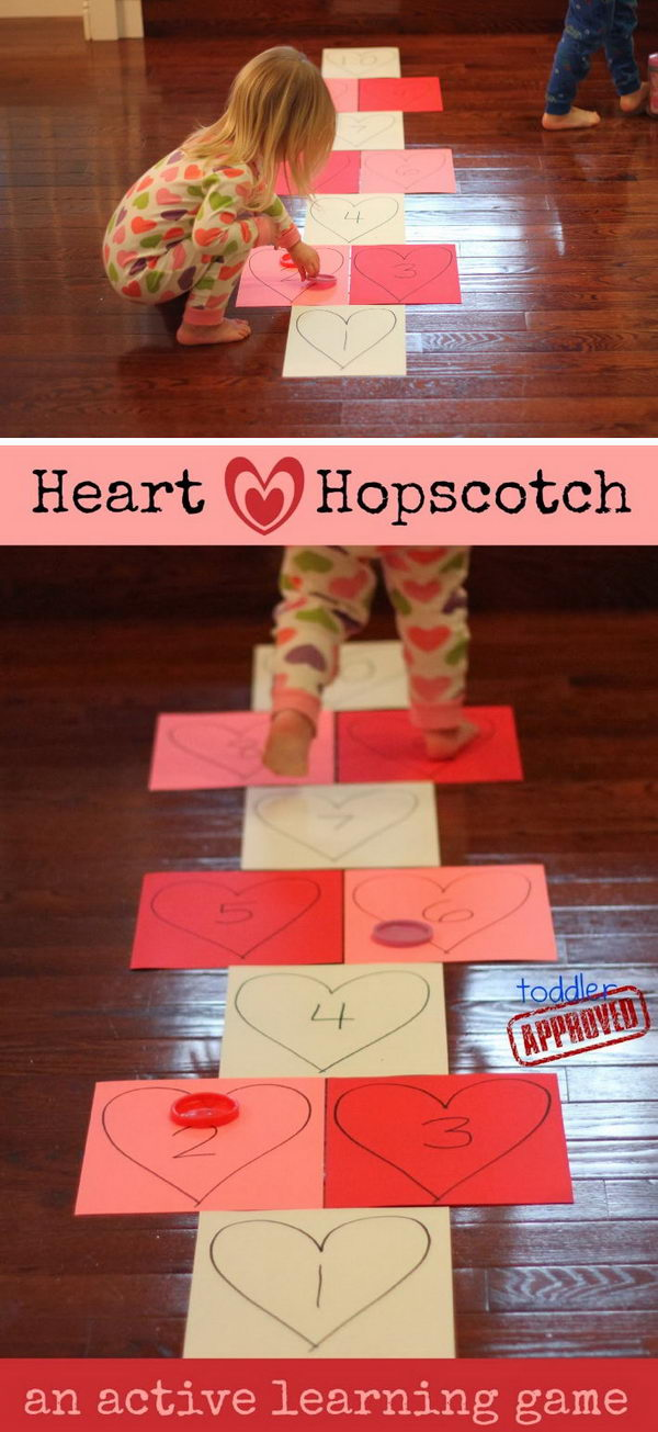 Heart Hopscotch.
