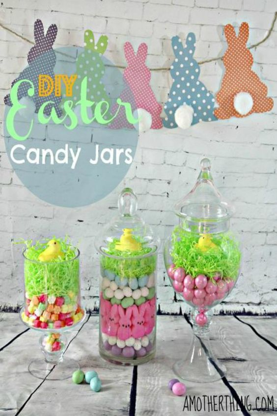 Easter Candy Jars.
