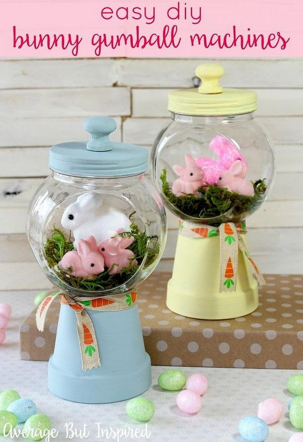 Easy DIY Bunny Gumball Machines.