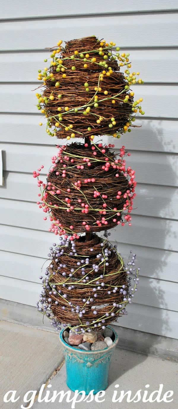 Grape Vine Egg Topiary.