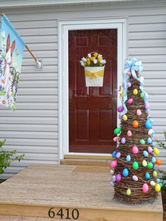 DIY Easter Egg Tree.