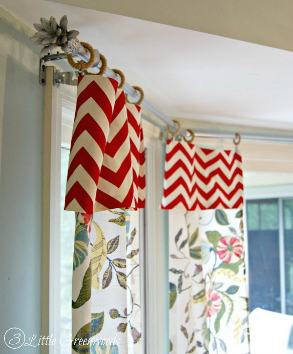 DIY Bay Window Curtain Rods.