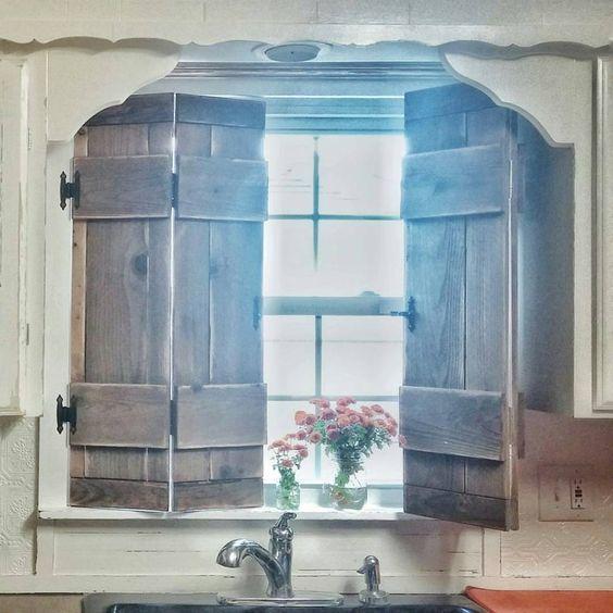 Barn Door Style Window Shutters.