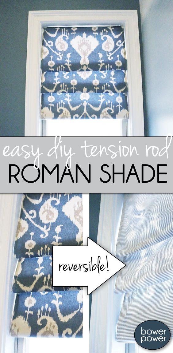Easy Roman Shade.