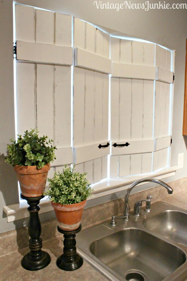 Bring Vintage Shutters Indoors for a Window Update.